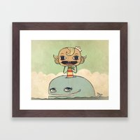 Flapjack Framed Art Print