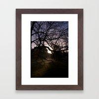 Lite From Behind Framed Art Print