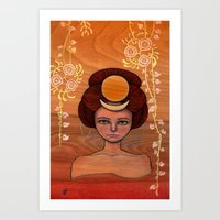 Autumn Moon Art Print