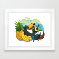 Tropical toucan Framed Art Print