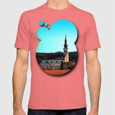 The Village Church Of Re… Mens Fitted Tee Pomegranate SMALL