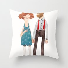 poppy and jackson Throw Pillow