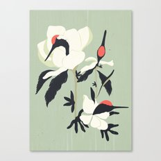 Crane Flower(鶴花) Canvas Print