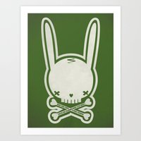 SKULL BUNNY Of PIRATE - … Art Print