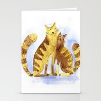 cats Stationery Cards featuring Cats by Anna Shell