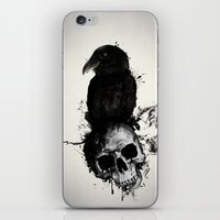 Raven and Skull iPhone & iPod Skin