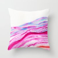 AGATE Inspired Watercolor Abstract 08 Throw Pillow