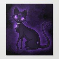 Purple Eyed Cat Canvas Print