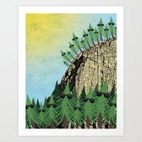 Sunning Trees Print Art Print