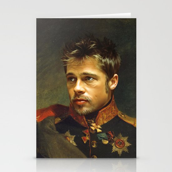 Brad Pitt - replaceface Stationery Card