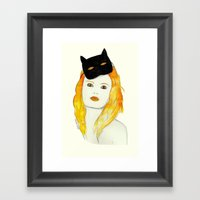 Be A Cat Framed Art Print
