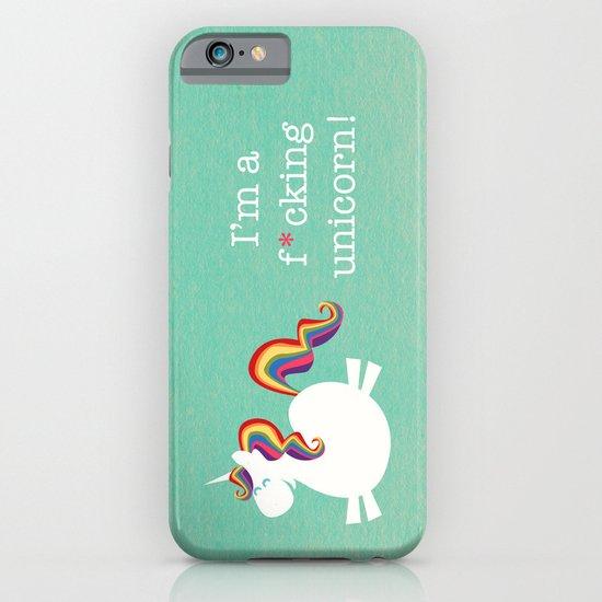 I'm a maturely speaking unicorn!!! iPhone & iPod Case