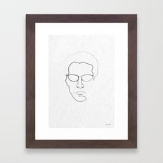 One line Neo Framed Art Print