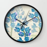 Texas Bluebonnet Wall Clock