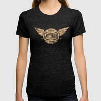 Vintage Gryffindor Quidd… Womens Fitted Tee Tri-Black SMALL