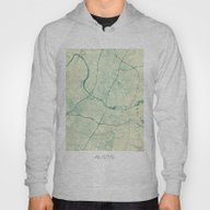 Austin Map Blue Vintage Hoody