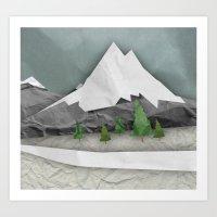 Wrinkled winter  Art Print