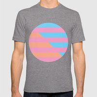 Neon Stripes /// www.pencilmeinstationery.com Mens Fitted Tee Tri-Grey SMALL
