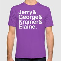 Seinfeld Jetset Mens Fitted Tee Ultraviolet SMALL