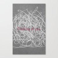 Concrete & Letters II Canvas Print