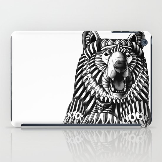 Ornate Grizzly Bear iPad Case