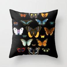 Entomology (Black) Throw Pillow