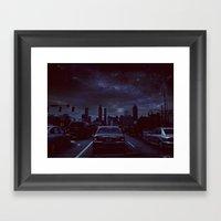 atlanta night Framed Art Print
