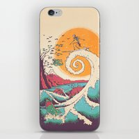 Surf Before Christmas iPhone & iPod Skin