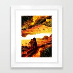 Lava Isolation Framed Art Print