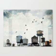 Watertanks 2 Canvas Print