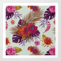 TROPICAL FLORAL PASSION Art Print