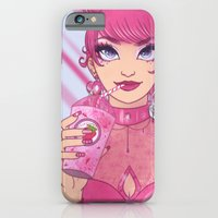iPhone & iPod Case featuring Strawberry Milkshake Girl by Lila Cattis