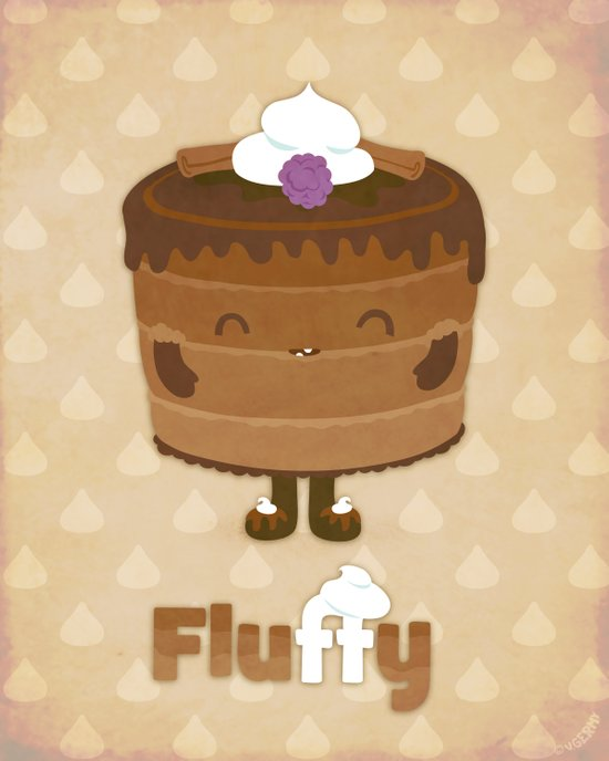 Fluffy Chocolate Mousse Cake Art Print