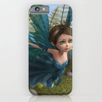 iPhone & iPod Case featuring Flying Little Fairy Butterfly by Design Windmill
