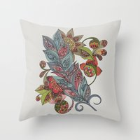 One Little Feather Throw Pillow
