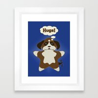 Star Dog Framed Art Print
