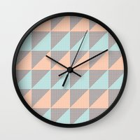 Triangles. Wall Clock