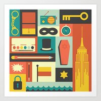 The Amazing Adventures O… Art Print