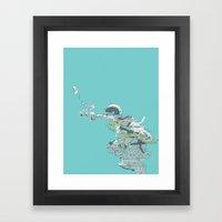 Seafoam Astronaut Framed Art Print