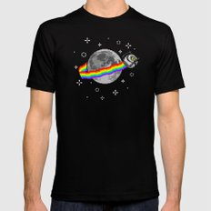 Nyan Space Core Black Mens Fitted Tee SMALL