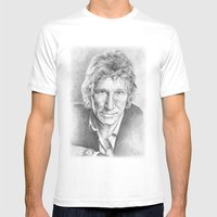 Roger Waters Of Pink Flo… Mens Fitted Tee White SMALL