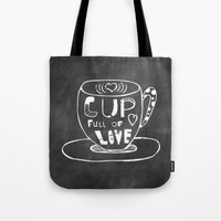 Cup Full Of Love Chalkbo… Tote Bag