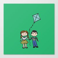 Fly A Kite Canvas Print