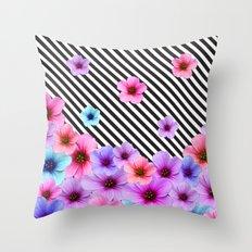 Floral Symphony Throw Pillow