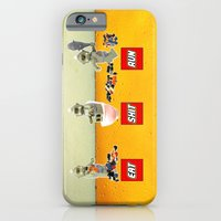 iPhone & iPod Case featuring EAT SHIT RUN CYCLOPS LEGO by complesso gasparo
