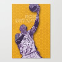 Bleed Purple And Gold Canvas Print