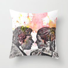 Han Solo and Princess Leia from Star Wars Throw Pillow