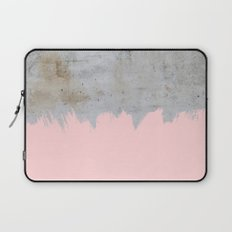 Paint with pink on concrete Laptop Sleeve