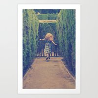 Alice world 1 Art Print