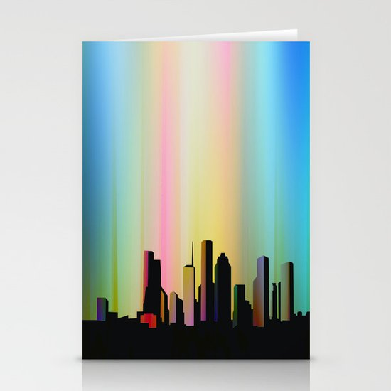 Cityscape through the veil Stationery Card